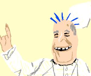 The pope is a punk rocker