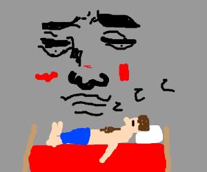 Watching someone sleep like a creep