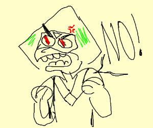 """Peridot really angry and screaming """"NO"""""""