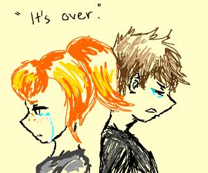 ginger girl breaks up with her boyfriend