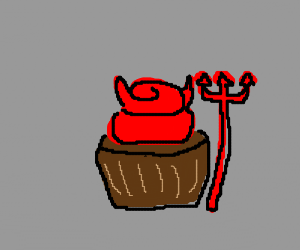 Demon cupcake