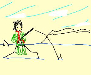 Gon (Hunter x Hunter) fishing