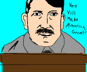 Hitler w/ normal mustache is next president