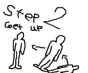 Step 1 - Lie down