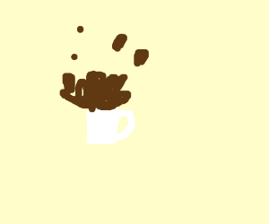 Gravity is lost, coffee cup flew