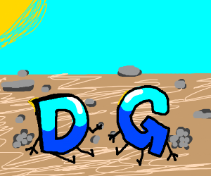 Drawception D and G bond over rock collecting