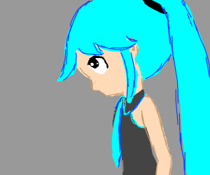 Guilty-looking Miku