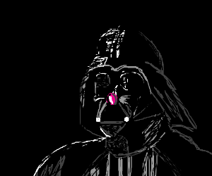 Darth Vader sprouts a pink nose.