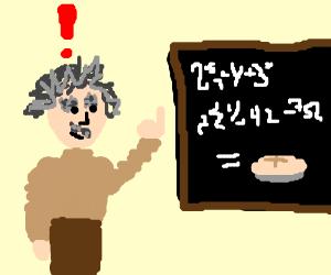 Einstein discovers Pie