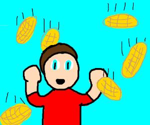 It's raining waffles