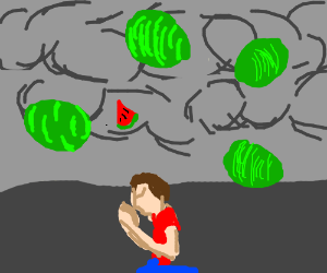 a man prays for watermelom rain, they come true