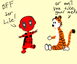 Lil' Deadpool & Hobbes