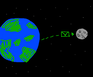 Moon gets email from Earth