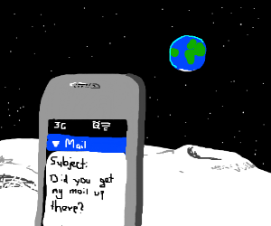 send email to the moon