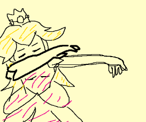Princess Peach dabbing