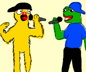 Yellmo V.S Pepe. Meme rap battle... begin!