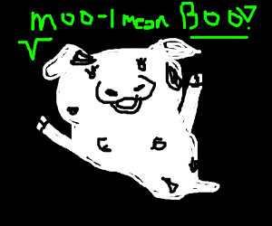 Ghost cow says boo