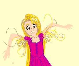 Rapunzel but with long armpit hairs