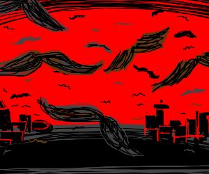 Flying mustache apocalypse