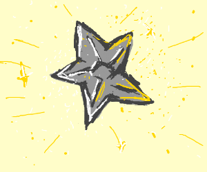 big gray star with sparkles