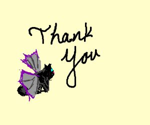 Thank-you black bat cat!
