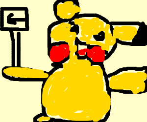 Pika informs viewer that opopo is to the left