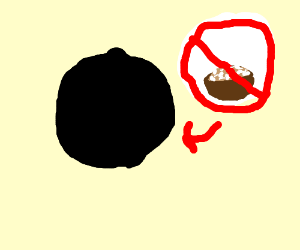 A black circle that is not big soup rice