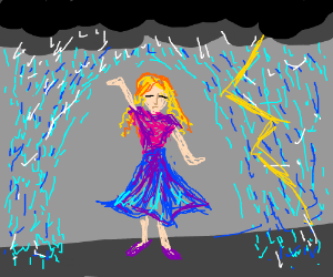 Hydromancer diverts rain so he doesn't get wet