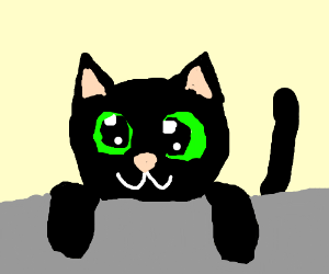 A Cute Black Cat With Green Eyes Drawing By Hannes Hultin Drawception