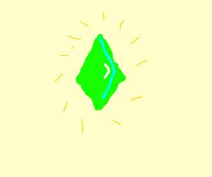 A green gem