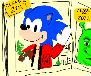 Sonic is Shrek's senpai
