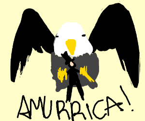 abraham lincoln on an eagle AMERICA!!!!!!!!!!!