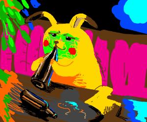 Pikachu gets drunk