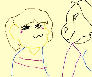 Frisk and Toriel