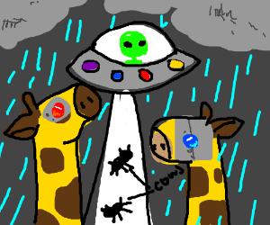 Noah ark's giraffes went scifi