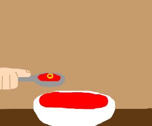 The last Spaghetti-o