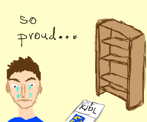 A Man Crying About Building Ikea Bookshelf
