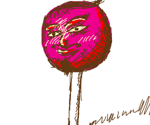 a lolly pop face