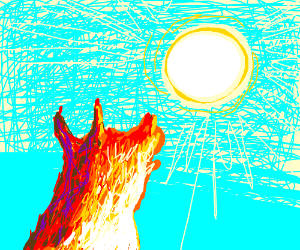 Fire-wolf howls at the sun