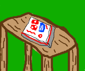Dominos on table