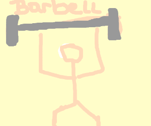 White person lifting barbell