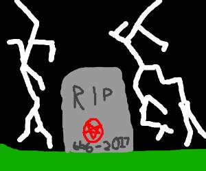 Satan's tombstone