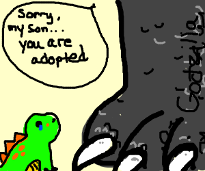 Godzilla tells son that he's adopted