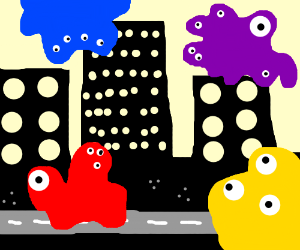 The wiggles get mutated & attack city