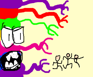 The Rainbow dimension is chasing three people
