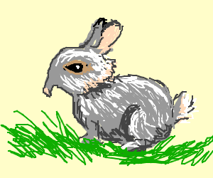 Droopy-nosed rabbit.