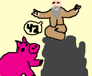 Pig finds out the meaning of life is... 42