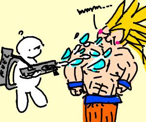 Malfunctioning Flamethrower vs. Goku