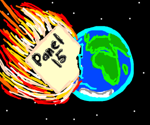 Panel 15 crashes into Earth
