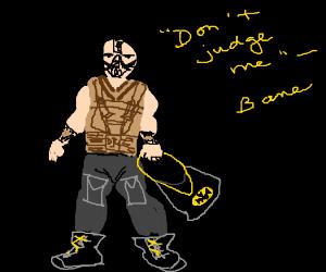 Bane has bought a batman brand purse